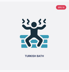 two color turkish bath icon from sauna concept vector image