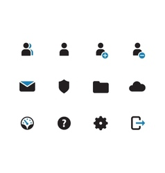 User Account duotone icons on white background vector image