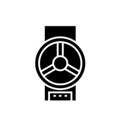 valve industrial icon black vector image
