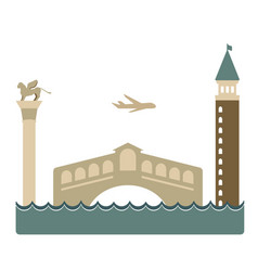 Venice geometric isolated on vector