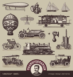 vintage means transportation vector image