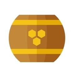 Wooden Barrel with Honey vector