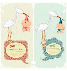 baby postcard vector image vector image