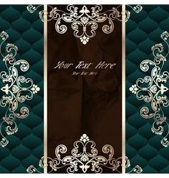 Dark green vintage banner vector image vector image