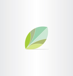 eco green leaf flat icon vector image