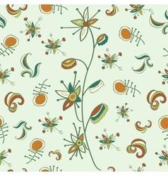 fantastic flower pattern vector image vector image