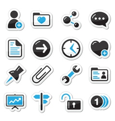 Internet web icons as labels vector image vector image