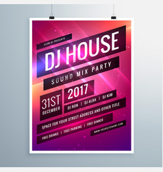 music sound party event flyer template in vector image