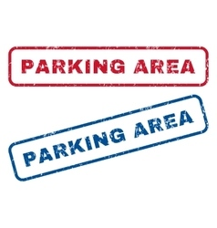 Parking Area Rubber Stamps vector image vector image