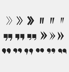 quote marks set quotation mark symbols vector image