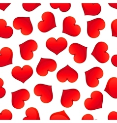 Red hearts seamless pattern for Valentine Day vector image vector image