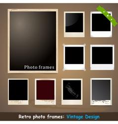 Vintage Photo Frame Design Template vector image