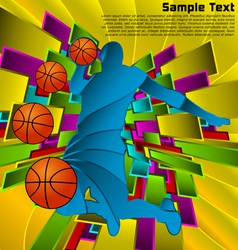 abstract sport design basketball player vector image