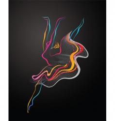 dancer logo vector image vector image