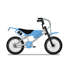kids sport bicycle isolated icon vector image