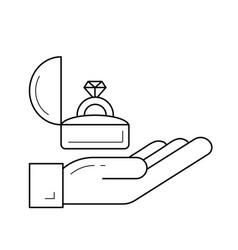 proposal line icon vector image