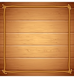 Rope Frame on Wood Template for Yuor Text vector image vector image