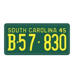 South Carolina 1945 license plate vector image vector image