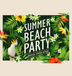 Summer beach party poster vector