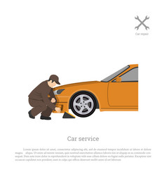 Car repair and maintenance auto service vector