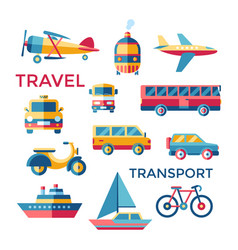 Digital blue red yellow travel vector