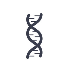 dna deoxyribonucleic acid chain logo design icon vector image vector image