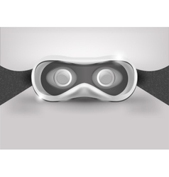 Glasses for virtual reality in 3D Front view vector image