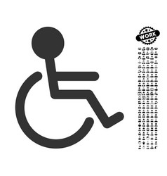 handicapped icon with professional bonus vector image