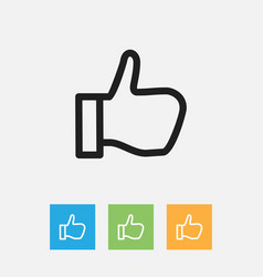 Of business symbol on okay vector