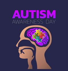 autism awareness day icon design medical logo vector image