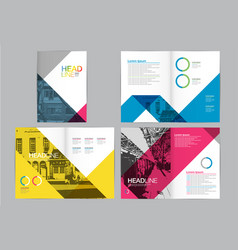template design layoutbrochure design vector image