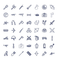 49 weapon icons vector