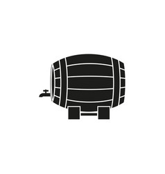 a barrel of wine or beer icon vector image