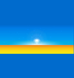 abstract summer time background with divide line vector image