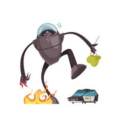 Alien cartoon vector