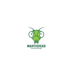 Animal insect mantis head green logo design icon vector
