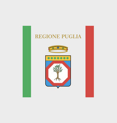 Apulia flag vector
