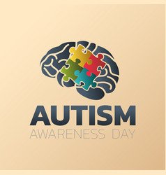 Autism awareness day icon design medical logo vector