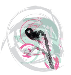 Basketball player in action vector image