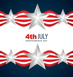 beautiful american independence day vector image