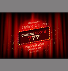 big win slots 777 casino banner vector image