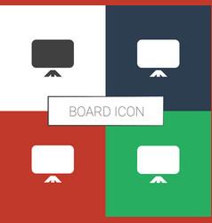 Board icon white background vector