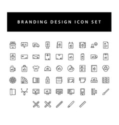 Branding and design icon set with black color vector