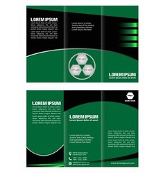 Brochure design template waves trifold vector