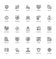Business and finance line icon 16 vector