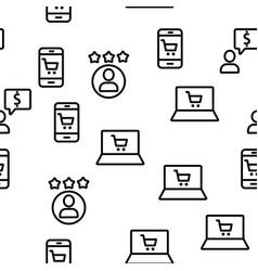 Buyer elements seamless pattern vector