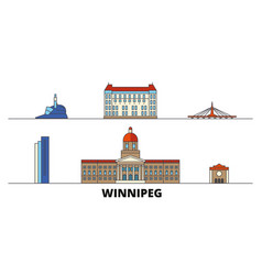 canada winnipeg flat landmarks vector image