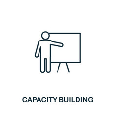 Capacity building icon line style element from vector