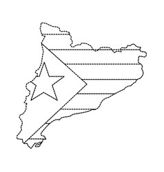 Catalunya flag and country outline icon image vector