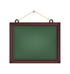 Chalk board school vector